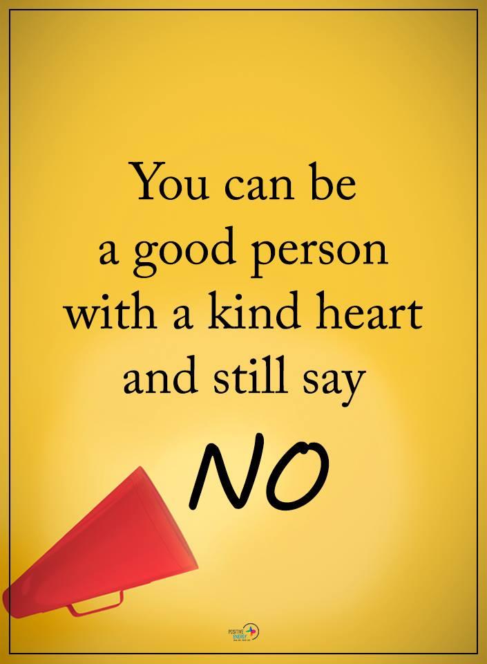 de kracht van posititeit nee zeggen